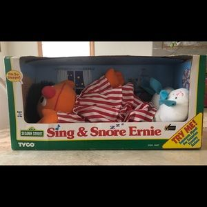New in box, vintage 1996 Sing & Snore Ernie